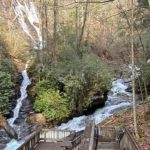 Dukes Creek Falls viewing platform in Georgia