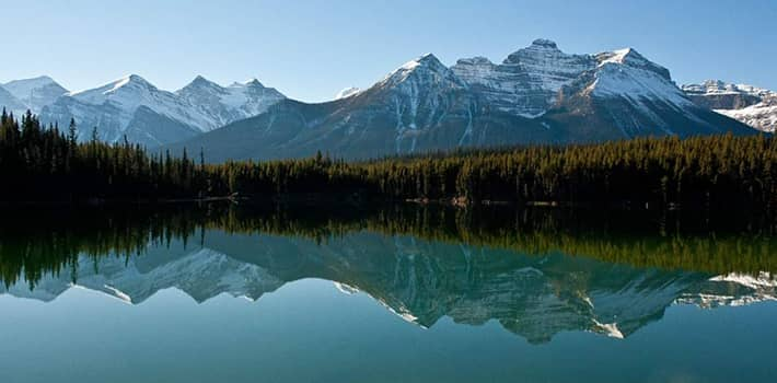 Hector Lake in Banff National Park
