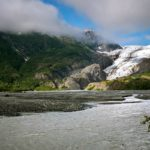 Waterfall on Exit Glacier in Kenai Fjords National Park